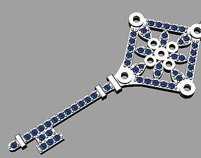 Key pendant 3D printable model