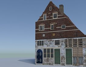 architecture 3D Dutch Golden Age House