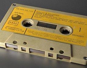 3D model tape Audio Cassette