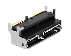 USB Micro B Female 3D