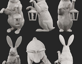 animals easter bunny 3D