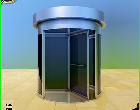 Revolving Door 3D asset VR / AR ready