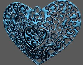 3D print model pendant Pendant Heart