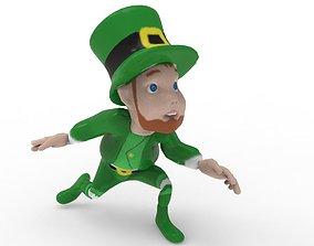 3D model animated St Patrick Elf