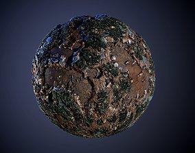 3D Ground Stone River Grass Seamless PBR Texture