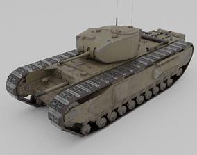 Churchill MK 1 Infantry Support Heavy Tank 3D model