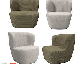 Gubi Collection Stay Lounge Chairs 3D model
