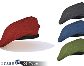 3D model Military Beret Lowpoly Hat Collection Pack