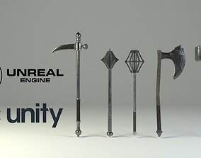 Medieval slavic weapons game asset realtime