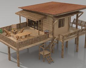 Wood Cabin wood 3D model