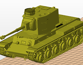 KV 2 Tanks 75mm 3D printable model