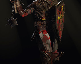 crusader with a club 3D asset
