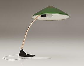 Green Desk Lamp 1950s 3D model