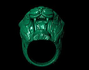 Men is Ring shaped tiger head 3D printable model