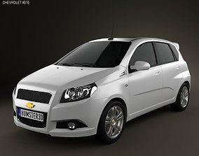 3D model Chevrolet Aveo 5-door 2009