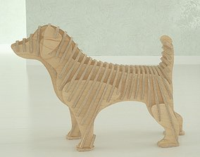 Cutting plans for Jack-Russell terrier figure 3D model