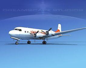3D model Douglas DC-6 Western Airlines