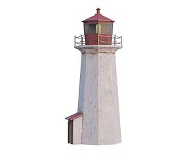 3D model VR / AR ready lighthouse seaport