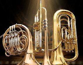 3D Yamaha wind instruments