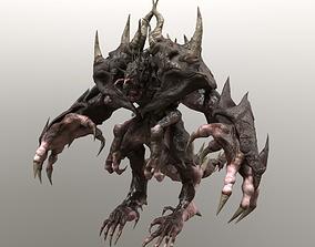 Four hands monster 3D model