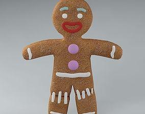 Gingerbread Man 01 3D