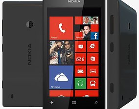 Black Nokia Lumia 520 3D Model