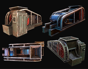 StoneCrushing Station WWII 3D asset