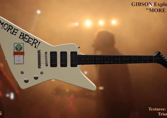 """1984 Gibson Explorer """"MORE BEER!"""""""