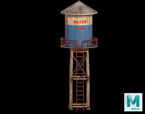 3D asset low-poly Water Tank
