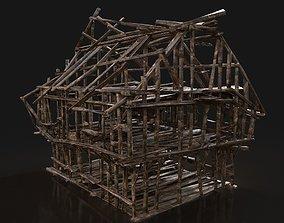 TOP-DOWN AAA BURNED RUINED OLD DEBRIS FANTASY 3D asset 1