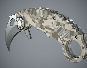 3D model game-ready Knife High Tech