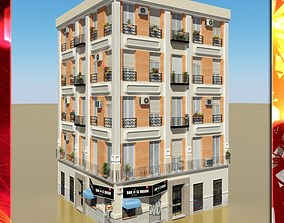 metropolitan Photorealistic Low Poly Building 3D model