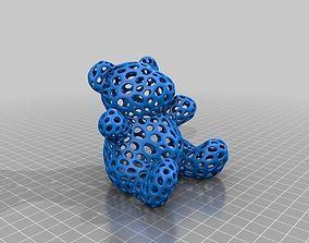 3D printable model Teddy Bear - Voronoi Style