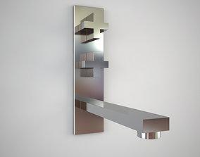 3D asset Gessi Rettangolo 21785 wall mixer