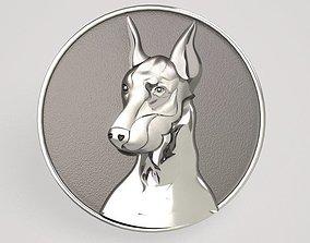 3D print model dog Doberman relief - two variants
