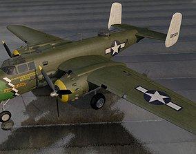 3D model North American B-25D-1 Mitchell Strafer