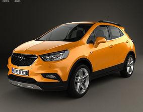 3D Opel Mokka X with HQ interior 2017