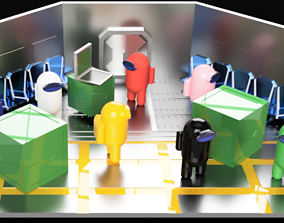 3D print model Among Us Starting Room Diorama games-toys