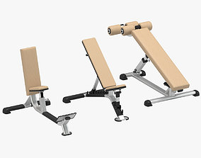 3D GYM Benches Set