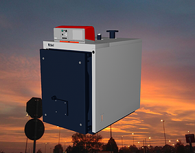 Industrial boiler Unical tx180 3D rigged