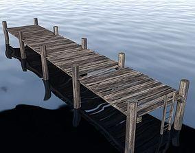 3D model low-poly Dock