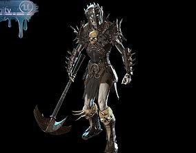 Skeleton warrior 1 3D asset
