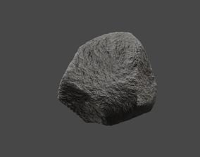 low poly rock 3D asset game-ready PBR
