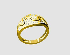 platinum Ladies ring 3D print model