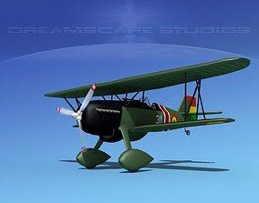 Curtiss P-6E Hawk V10 3D