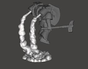 3D print model 3x Assault Marine Smoke Stands - double 2