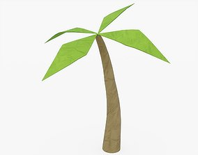 3D model Origami Palm Tree
