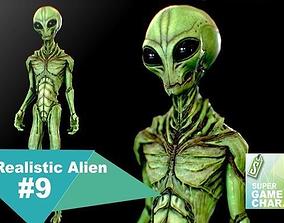 3D asset Realistic Alien 9