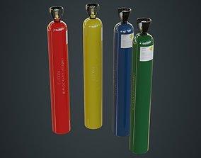 3D asset Gas Cylinder 2A