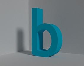 3D model Letter b - lowercase